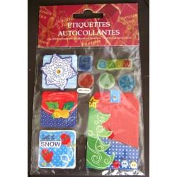 Lot étiquettes autocollantes cadeaux fête noël décoration fenêtre divers neuve