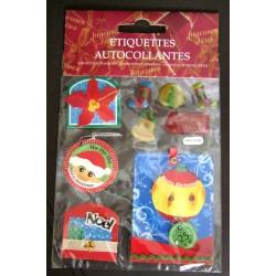 Lot étiquettes autocollantes cadeaux fête noël décoration fenêtre divers 02 neuve