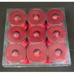 Lot de 9 bougies déco rouges fête noël mariage décoration table divers neuve