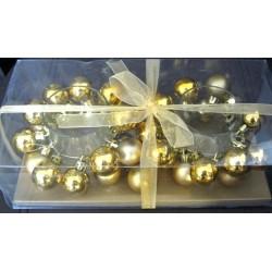 Coffret photophore bougeoirs boules jaune/or fête noël mariage décoration table divers neuve