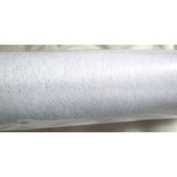 FÊTES ANNIVERSAIRE NOEL MARIAGE Chemin de table intissé 0.40 x 10 mètres blanc paiileté gris neuf