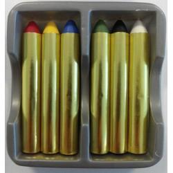 Lot de 6 crayons Maquillage FÊTE ANNIVERSAIRE CARNAVAL DEGUISEMENT neuf