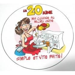 FÊTE ANNIVERSAIRE HUMOUR BADGE 20 ANS FILLE DIAMÈTRE 5 CM NEUF
