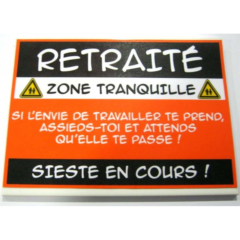 plaque danger humoristique sur fa ence retraite id e cadeau anniversaire f te neuve emball. Black Bedroom Furniture Sets. Home Design Ideas