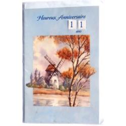 Carte postale neuve avec enveloppe joyeux anniversaire multidates ( lot 76.06)