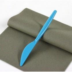 """Lot de 20 Couteaux en plastique """"Style"""" Turquoise anniversaire mariage baptême"""