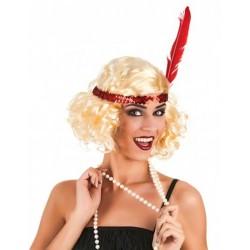 Perruque blonde charleston femme déguisement adulte anniversaire mariage retraite humour neuve