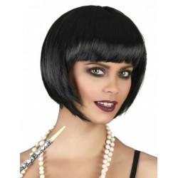Perruque courte noire femme déguisement adulte anniversaire mariage retraite humour neuve neuve
