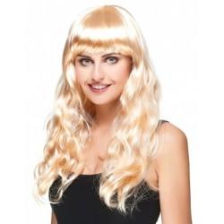 Perruque blonde longue femme déguisement carnaval adulte anniversaire mariage retraite humour neuve neuve