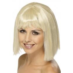 Perruque blonde avec frange femme déguisement adulte anniversaire mariage retraite humour neuve