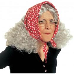 Perruque vieille femme adulte déguisement carnaval anniversaire mariage retraite humour NEUVE