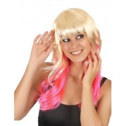 Perruque Tie & Dye blond et rose femme adulte carnaval anniversaire mariage retraite neuve
