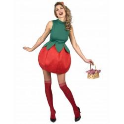 Déguisement robe fraise femme adulte déguisement carnaval anniversaire mariage retraite humour neuf