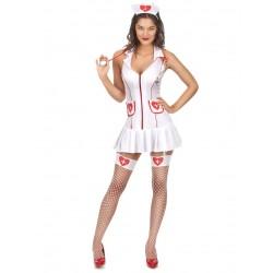 Déguisement infirmière sexy femme adulte taille XS AU L carnaval anniversaire mariage retraite humour neuf