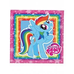 Lot de 20 Serviettes en papier My Little Pony 33x33cm anniversaire enfant fête