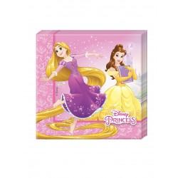 Lot de 20 Serviettes papier 33x33cm Princesses Disney enfant anniversaire fête
