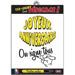 Tee Shirt A Dedicace Joyeux Anniversaire Humour Idee Cadeau Neuf