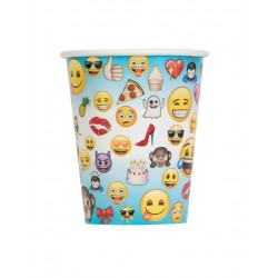 Lot de 8 Gobelets en carton Emoji™ enfant anniversaire fête