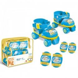 Set Roller Minions + protections - genouillères coudières jouet Plein air neuf