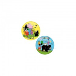 Ballon BARBAPAPA 2 MODELES JAUNE BLEU en PVC 14 cm jeux jouet Plein air neuf
