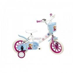 """Vélo 12"""" Frozen La Reine des Neiges Disney anniversaire plein air fille neuf"""