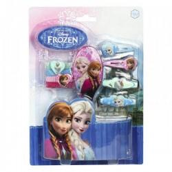 Coffret d'accessoires pour cheveux avec brosse - La Reine des Neiges fille neuf
