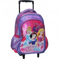 Sac à dos trolley Princesse Disney - Qualité supérieure cartable scolaire enfant neuf