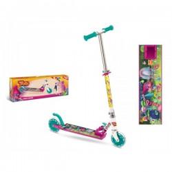 Trottinette Trolls fille 2 roues pliable jeux jouet enfant Plein air idée cadeau anniversaire noel neuf