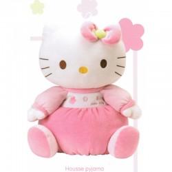 Peluche hello kitty housse range pyjama 40cm licence officielle idée cadeau anniversaire noel neuf