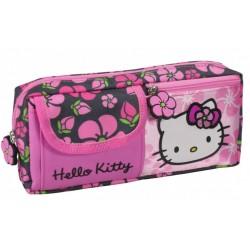 Trousse Hello Kitty licence officielle fille avec 3 compartiments fournitures scolaire neuve