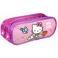 Trousse Hello Kitty licence officielle fille avec 2 compartiments fournitures rentrée scolaire neuve