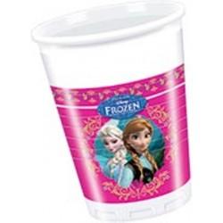 Lot de 8 Gobelets La Reine des neiges™ Frozen anniversaire fille décoration fête