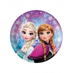Lot de 8 Assiettes en carton 23 cm La Reine des Neiges Frozen anniversaire fille neuve