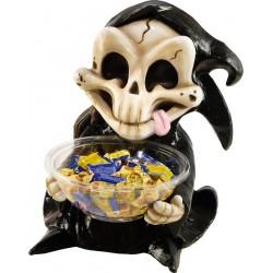 Pot à bonbons halloween squelette 50 cm de hauteur anniversaire fête cadeau neuf