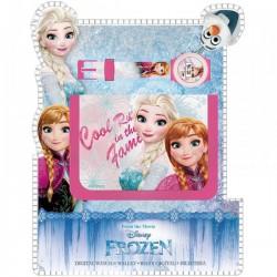 Portefeuille + montre digitale La Reine des Neiges Frozen licence officielle Disney idée cadeau anniversaire noel neuf