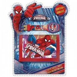 Set portefeuille + montre digitale Spiderman Marvel neuf idée cadeau anniversaire enfant garcon