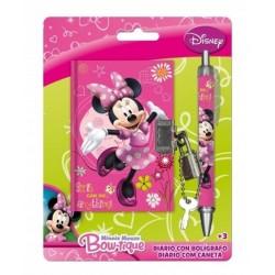 Journal intime Minnie + stylo licence officielle Disney enfant fille idée cadeau noel neuf