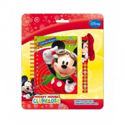 Bloc Notes + Stylo Cordon Mickey licence Disney enfant fourniture scolaire vacances loisirs neuf