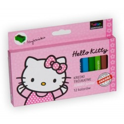 Boîte de 12 crayons de couleur Hello Kitty + taille-crayons fille fourniture scolaire cartable neuf