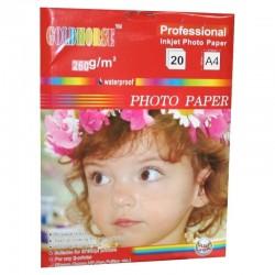 Papier Photo 20 feuilles 260 Grs pour imprimantes Jet d'encre grande qualité professionnelle Format A4 (29.7x 21cm) neuf