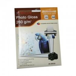 Lot 20 Papier Photo pour imprimantes Jet d'encre - Format A6 - 260 Grs neuf