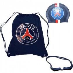 Set de piscine PSG - Paris Saint Germain avec sac bonnet lunettes sous licence officiel neuf