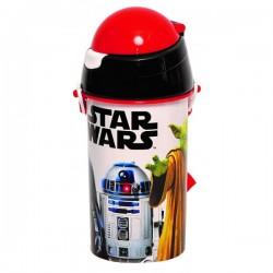Gourde pop up Star Wars Gourde avec une paille rétractable licence officielle Disney enfant neuve