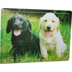 Puzzle en bois de 25 pièces sur le thème des chiens enfant idée cadeau anniversaire noel neuf