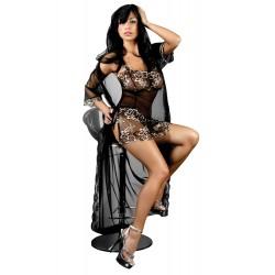 Lingerie fine sexy femme Hera peignoir brodée nacre Taille S-M coffret cadeau st valentin anniversaire neuve