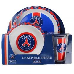 Coffret repas 3 pièces Licence officiel Paris Saint-Germain PSG ENFANT IDÉE CADEAU ANNIVERSAIRE NOËL NEUF