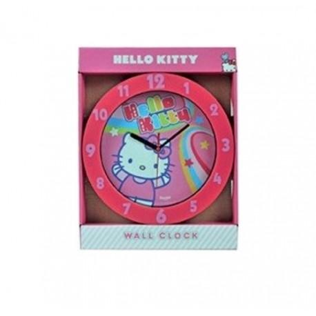 Pendule horloge murale ronde Hello Kitty déco chambre idée cadeau neuf