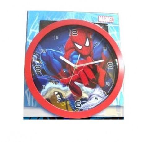 Grande Pendule horloge murale ronde Marvel Spiderman 32.5 cm déco chambre idée cadeau anniversaire noel neuve