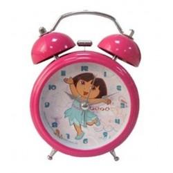 Réveil cloches Dora 12cm lumineux enfant fille chambre idée cadeau anniversaire noel neuf