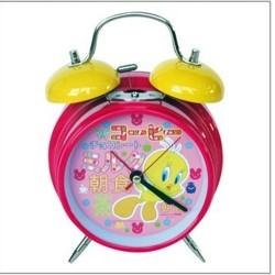 Réveil cloches TITI KAWAI en métal enfant fille chambre idée cadeau anniversaire noel neuf